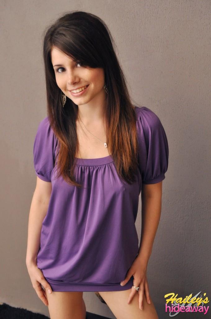 Hailey in purple